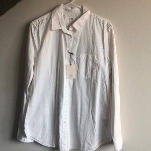 NWT Gap White Button Down Shirt